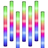 INIEIWO Foam Light Sticks Multicolor Glow Batons,Colorful Flashing LED 3 Modes, Bendable Foam Sticks for Kids and Party Supplies for Birthday Concert 100PCS