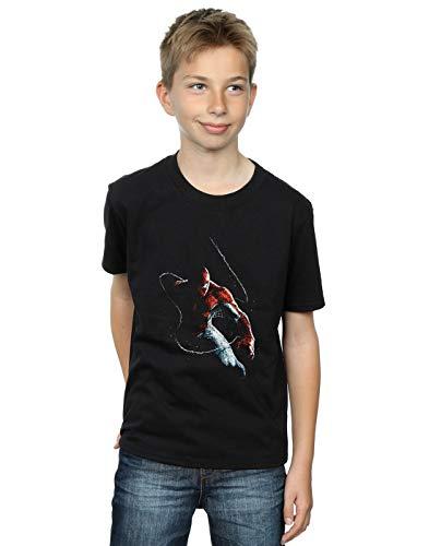 Marvel Universe Niños Spider-Man Painting Camiseta Negro 12-13 Y