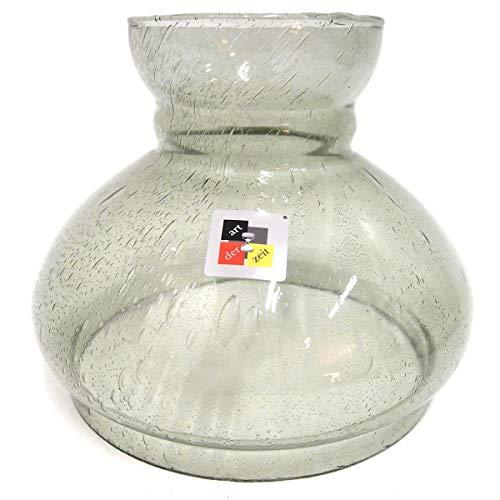 Petroleumlampenschirm 180 229 203 mm Glas getönt Vestaschirm Ersatzglas Öllampe