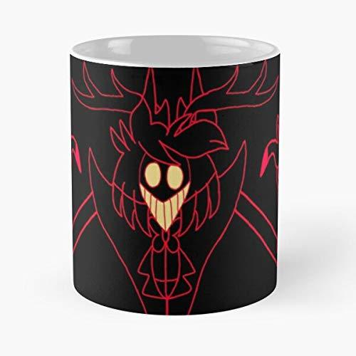 Seeyo Pimp Hazbin Alastor Hotel Strawberry Vivziepop Radio Red Demon Best 11 oz Kaffeebecher - Nespresso Tassen Kaffee Motive