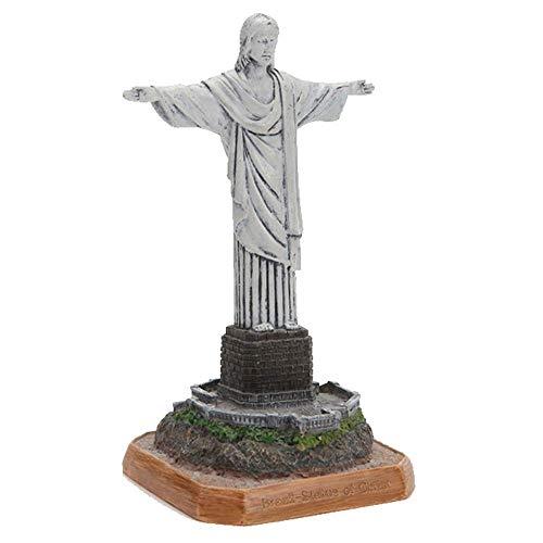 LIUSHI Escultura de construcción, Estatua del Cristo Redentor de Brasil, coleccionables Decorativos de Escritorio, Estatua de Adorno de Resina, Accesorios de fotografía, Recuerdo turístico para reg
