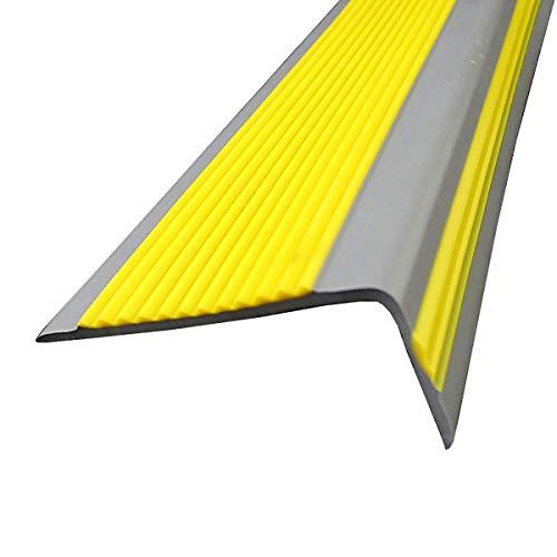 Topshop Tira de transición para Bordes de Escalera, 10 Paquetes de 1,5 m de Longitud, escaleras de PVC en Forma de L, Antideslizantes y Miss Fire, ángulo de 50x20 mm para Interiores