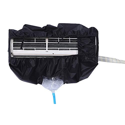 Massage-AED Bolsa De Limpieza De Aire Acondicionado Negra Funda De Limpieza Impermeable para Lavado De Polvo Montada En La Pared Bolsa De Limpieza para Oficina Doméstica