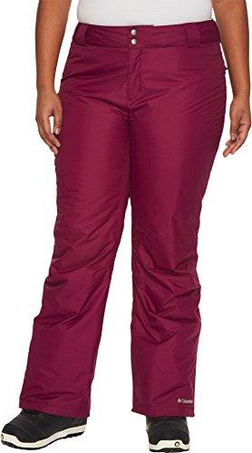 Columbia Bugaboo Pantalón para Mujer, Mujer, Color Frambuesa Oscuro, tamaño Small x Short