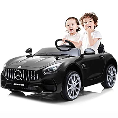 KASPURO 2 Seater Battery Powered Cars for Kids?Electric Cars for Kids?Kids Ride on Car for Kids, Mercedes Benz Car with Remote Control, Battery Powered, LED Lights, Wheels Suspension, Music, Horn by KASPURO