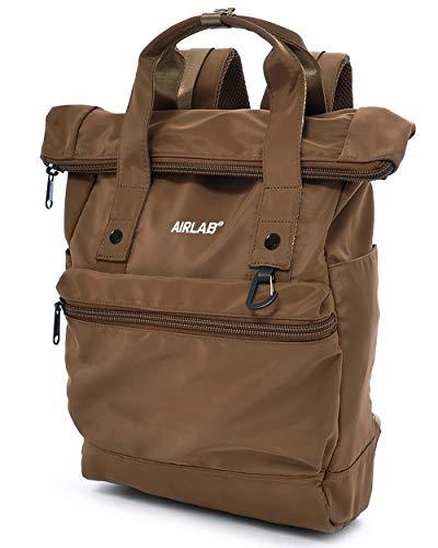 Rucksack Laptop Rucksack Damen Herren, Tagesrucksack mit Laptopfach für 15.6 Zoll & Anti Diebstahl Tasche, für Uni Reisen Freizeit Job, Braun