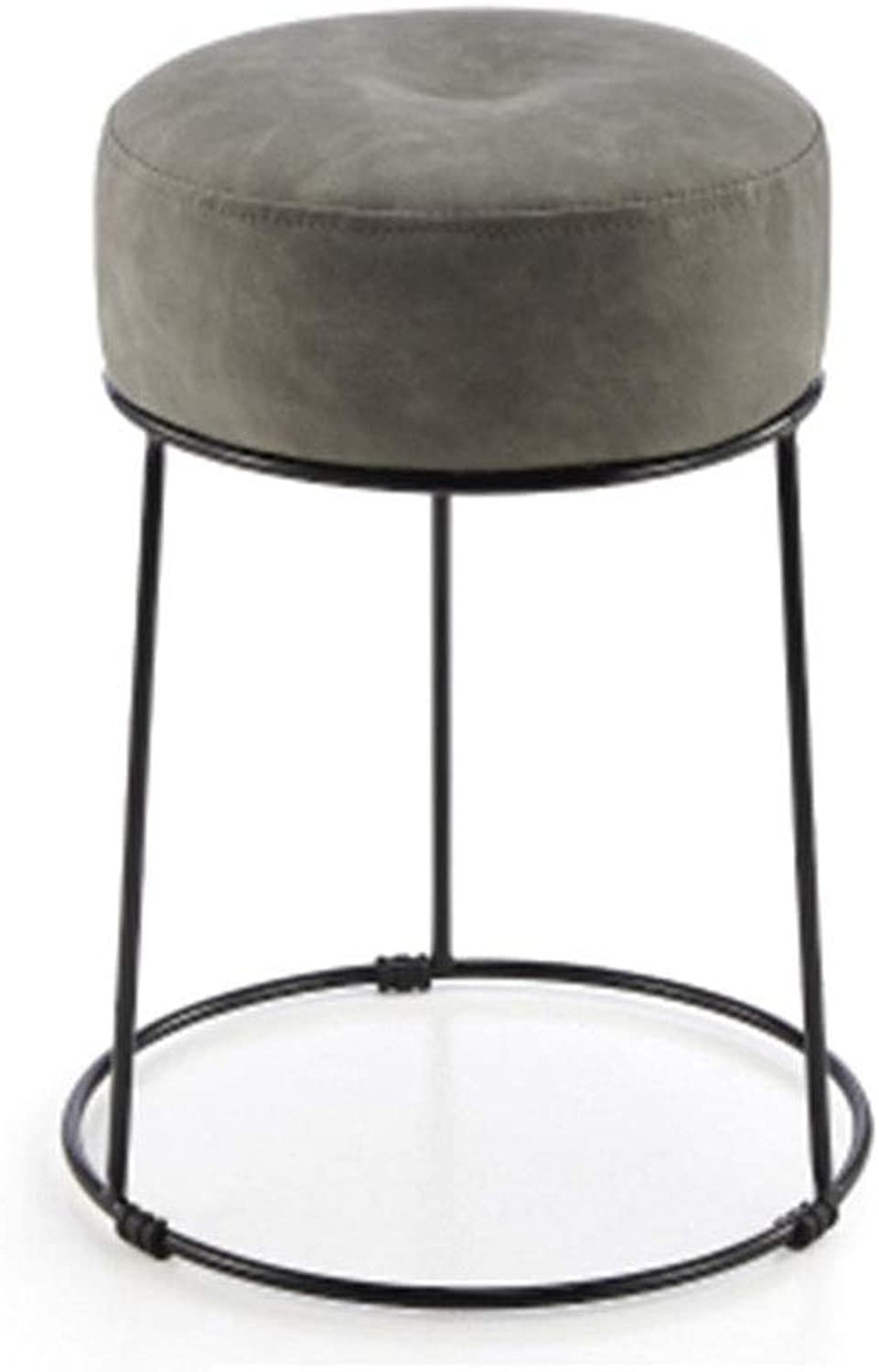 Bar Chair Beauty Stool Iron Stool Barber Chair Creative Nail Stool Household 10 colors 1 Size (color   F)