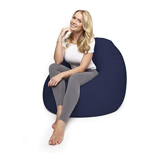 Lumaland Flexi Comfort Sitzsack Premium Bean Bag Sitzkissen Medium 142 x 84 cm Navyblau