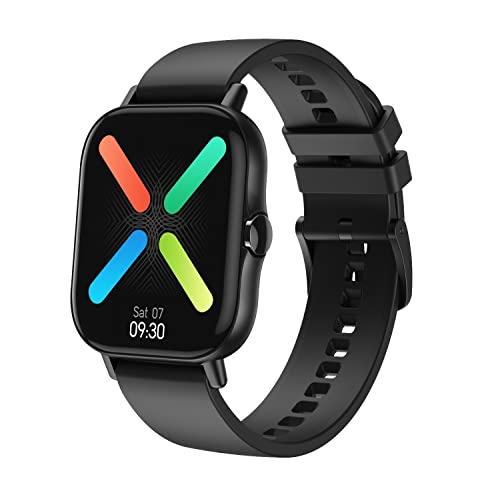 KaiLangDe Smartwatch Smart Watch Reloj Inteligente con Pulsómetro Cronómetros Calorías Monitor Sueño Podómetro Monitores De Actividad Impermeable Reloj Deportivo Pulsera (Color : Black)