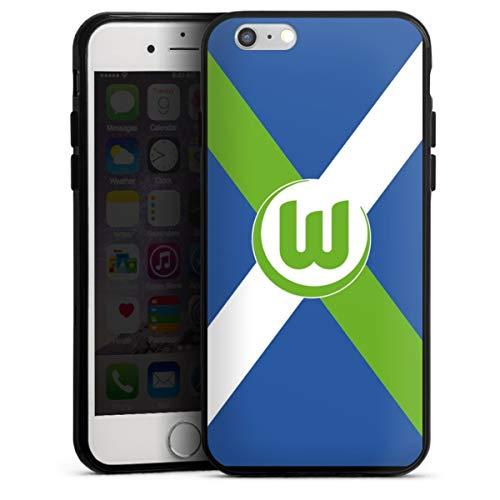 DeinDesign Silikon Hülle kompatibel mit Apple iPhone 6s Case schwarz Handyhülle VFL Wolfsburg Offizielles Lizenzprodukt Bundesliga