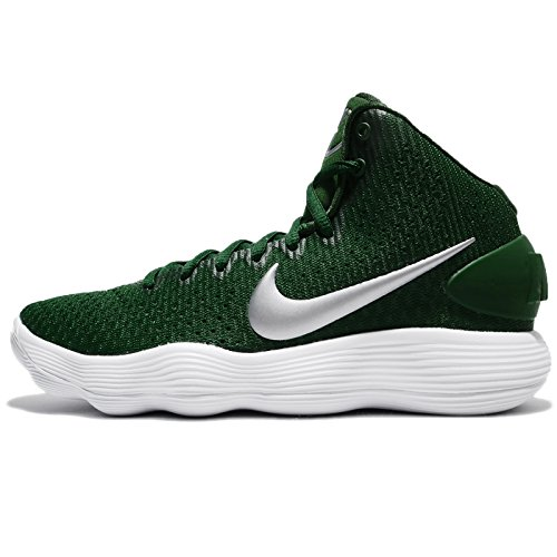 Nike New WMNS Hyperdunk 2017 Mid TB Green/White WMNS 8 Basketball Shoes