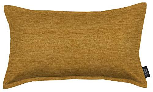 McAlister Textiles Plain Chenille | Kissenbezug für Sofa, Couch in Ockergelb | 60cm x 40cm | Samt flauschig in 10 Farben erhältlich | einfarbige Uni Deko Kissenhülle