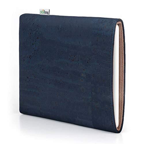 stilbag eReader Hülle VIGO für Icarus Illumina XL HD | eBook Reader Tasche - Made in Germany | Kork denimblau, Wollfilz haselnuss