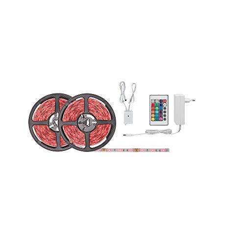 Paulmann 78980 SimpLED Strip Set 10 m LED Stripe 28W Lichtstreifen RGB Multicolor Lichtband beschichtet