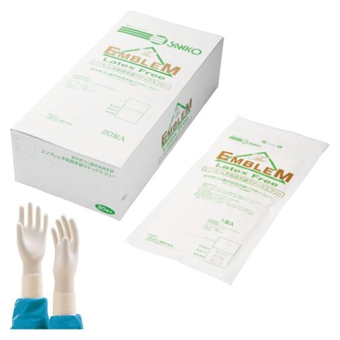 セッション血色の良い徐々にエンブレム手術用手袋 6.5 <1箱(20双入)>
