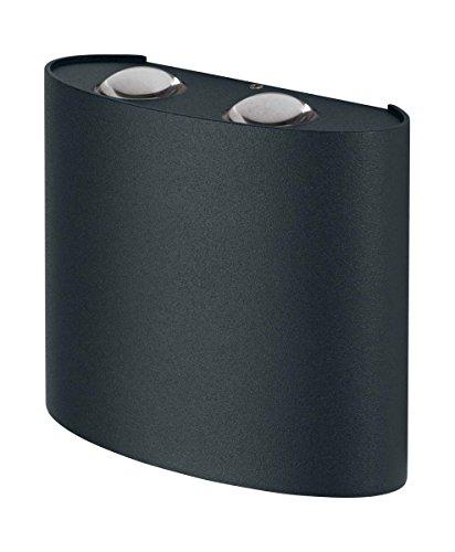 OSRAM - Applique extérieure LED ENDURA STYLE UpDown Déco - 2 Faisceaux - 11W Equivalent 45W - Gris Anthracite - Garantie 5 ans