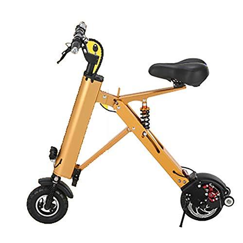 SOAR Patinetes para Niños con los Asientos, 350W Motor 25 km/h, la Resistencia máxima de 45 km y el Super 8 Pulgadas a Prueba de Golpes, Neumáticos for Adultos y Adolescentes (Color : Yellow)