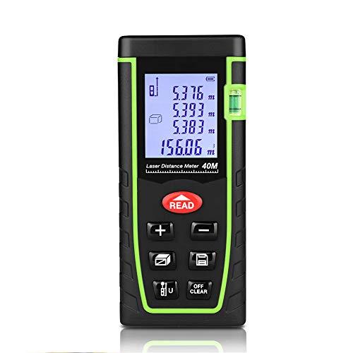 takestop® telémetro medidor de Distancia Profesional Metro Manual Puntero láser Digital medidor Infrarrojo 40Metros distanciómetro Nivel