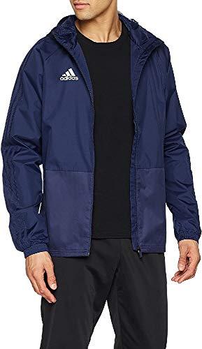 adidas Herren CON18 RAIN JKT Sport Jacket, Dark Blue/White, S