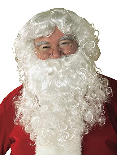 Rubie's Value Santa Beard And Wig Set, White, One Size