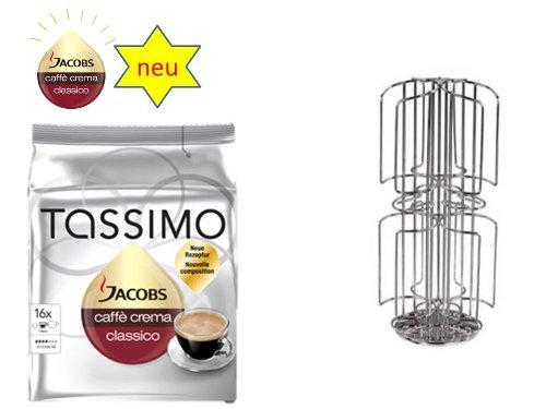 Jacobs Caffé Crema Classico + dem neuen Kaffee-Kapselhalter für Tassimo 48 Disc mit Milchschacht für grosse Kapseln von James Premium®