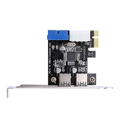 Vipxyc Espansione da PCI-E a USB 3.0, Scheda di espansione PCI Express a 2 Porte, Scheda PCI Express Compatibile con Windows XP 32/64, Windows 7 32/64, Windows8, Windows8.1