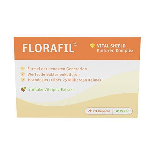 Florafil | Probia Komplex | Bakterienstämme | 20 Kapseln | vegan | Made in Germany