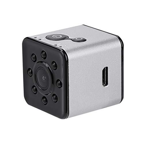 Lazmin Mini cámara de acción WiFi, 1080P HD 155 ° Lente Ancha Cámara Deportiva Resistente al Agua Videocámara Visión infrarroja Nocturna para fotografía aérea(Plata)