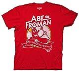 Ripple Junction Ferris Bueller's Day Off - Camiseta unisex de manga corta, 100 % algodón, diseño de Abe Froman - Rojo - Small