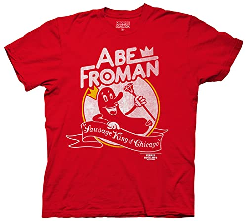 Men's Ferris Bueller's Day Off Abe Froman Sausage King T-shirt, Red or Heather
