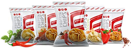 GOT7 High Protein Chips - Snack 40{ccc7d34566f8d8cad42fe0c7a77eee2760f33feca99dc8a0d04a36cdea9bcf01} Protein Fitnesssnack – Ideal zur Diät und für zwischendurch 6x 50g (Party Box)