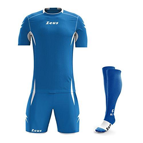 Zeus Sparta - Ensemble de vêtements de sport composé d'un maillot à manches courtes, d'un short et d'une paire de chaussettes L ROYAL-BIANCO