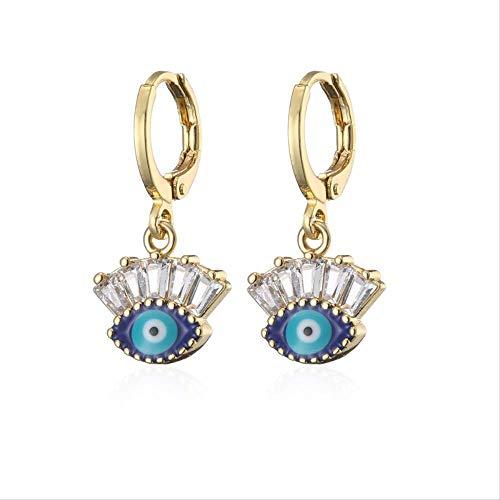 Nette böse Augentropfen-Ohrringe für Frauen Mädchen Goldfarbe weiblicher Partyschmuck Boucle D'oreille