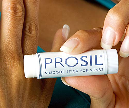 Pro-Sil Silicone Scar Stick Keloid and Hypertophic Scar Glide on Professional Therapy for Scars 17g (4x larger easy application stick) by Prosil