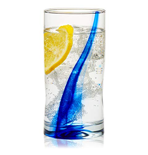 Libbey Impressions Tumbler Glasses, Set of 4 (Blue Ribbon)