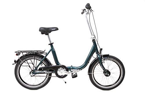 20 Zoll Alu Klapp Fahrrad Faltrad Folding Bike Shimano 3 Gang Nabendynamo blau grün B-Ware