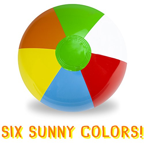 Sol Coastal Jumbo 6-Color Inflatable Beach Ball (36-inch)
