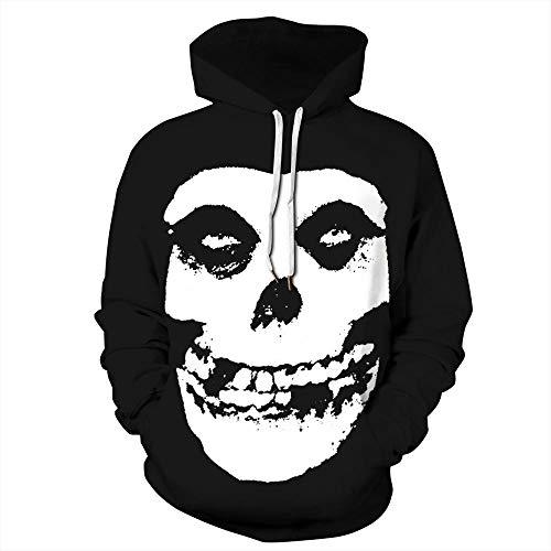 Sudadera con Capucha Hombre Blanco Y Negro Arquitectura Ciudad 3D Impresión Pullover Manga Larga Hoodie Casual Funny Hooded Sweatshirt con Bolsillo XXL