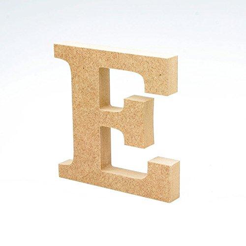 LA LLUNA ALWAYS CREATING Letras de Madera. Letras Grandes de Madera DM de 20cm de Alto para decoración y Manualidades. Disponible el Alfabeto Completo (E)