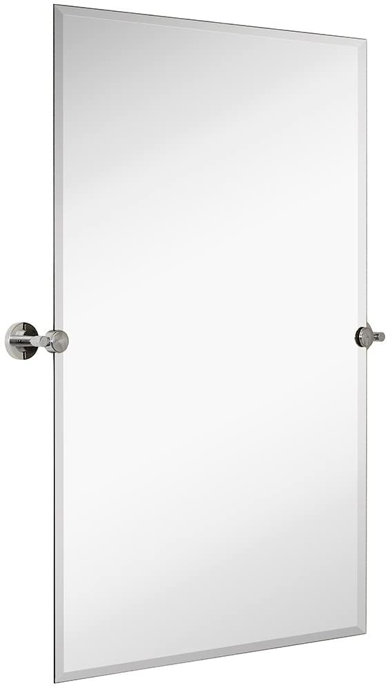 Hamilton Hills quality assurance Large Pivot Rectangle Mirror Polished Chrome with San Jose Mall