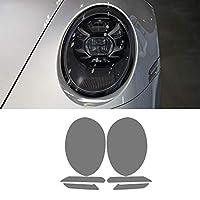 2個の車のヘッドライトフィルムヘッドランプポルシェ911992カレラ20192020用の透明な黒のTPUステッカー