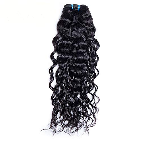 9A Brazilian Natural Water Wave Virgin Hair Weave 1 Bundle 100% Unprocessed Human Hair Extensions Natural Color 95-100g/pc (16)
