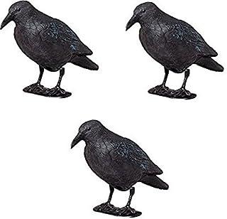 comprar comparacion ARTECSIS Ahuyentador Aves - Cuervo Negro Espantapájaros de Plástico Efectivo para ahuyentar naturalmente Pájaros y Palomas...