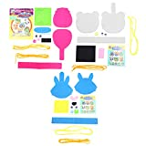 EXCEART 3 Set de Bolsas de Manualidades Hechas a Mano para Niños Kit de Costura Artesanal Diy Juguete Educativo para Manualidades de Jardín de Infantes (Mono Conejo Estilo Panda)