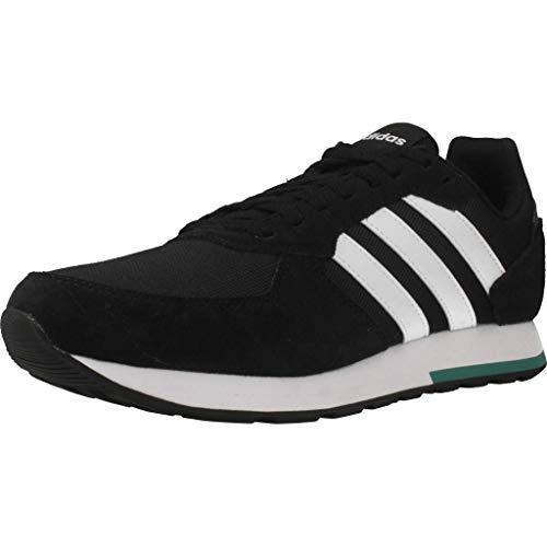 adidas 8k, Zapatillas de Running para Hombre, Negro (Core Black/Ftwr White/Active Green Core Black/Ftwr White/Active Green), 47 1/3 EU