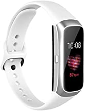 Fit for Samsung Galaxy Fit SM-R370 Watch Bands, Adjustable Soft Silicone Replacement Band Straps Wristbands Bracelet Fit Samsung Galaxy Fit Fitness Smartwatch for Women Men (White)