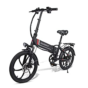 Electric Bikes OD-B Folding Electric Bicycle Aluminum Alloy Electric Bike Unisex Adult Youth 20 Inch 25km/h 36V 8AH 250W Electric Ebike with Pedals Power Assist [tag]