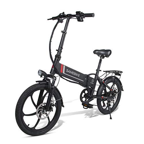 Bicicleta Eléctrica Plegable Aleación De Aluminio Bicicleta Eléctrica Unisex Adultos Jóvenes 20...
