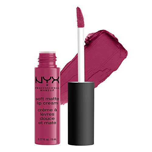 NYX Professional Makeup Soft Matte Lip Cream, Finish Matte e Cremoso, Colore Extra-Pigmentato, Long Lasting, Tonalità: Prague