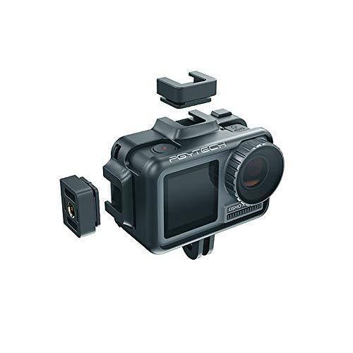 MMLC PGYTECH Cage Schutzgehäuse Rahmen Universal Interface Case Kameratasche für DJI Osmo Action Kamera (Schwarz)